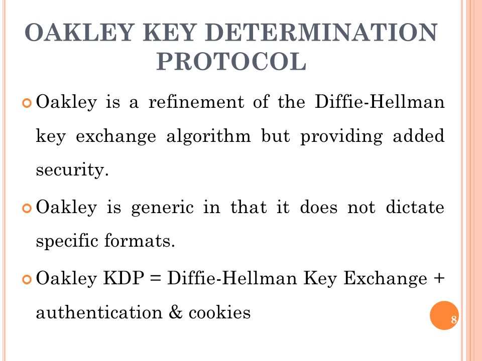 OAKLEY KEY DETERMINATION PROTOCOL