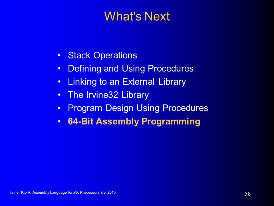 Assembly language for x86 processors 7th edition ppt for R language architecture