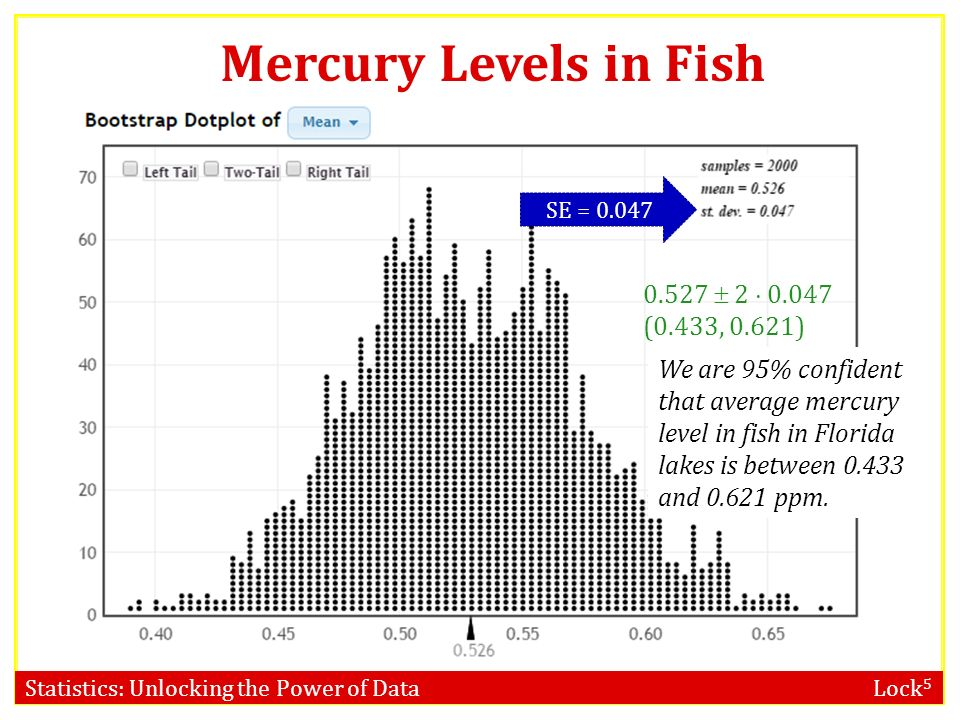 Confidence intervals bootstrap distribution ppt video for Fish with high levels of mercury