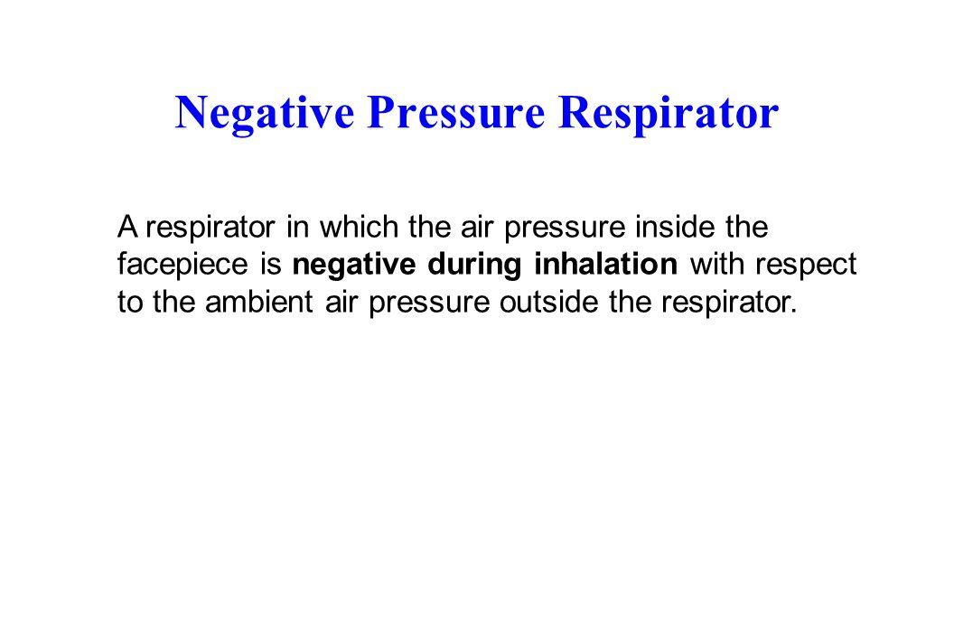 Negative Pressure Respirator