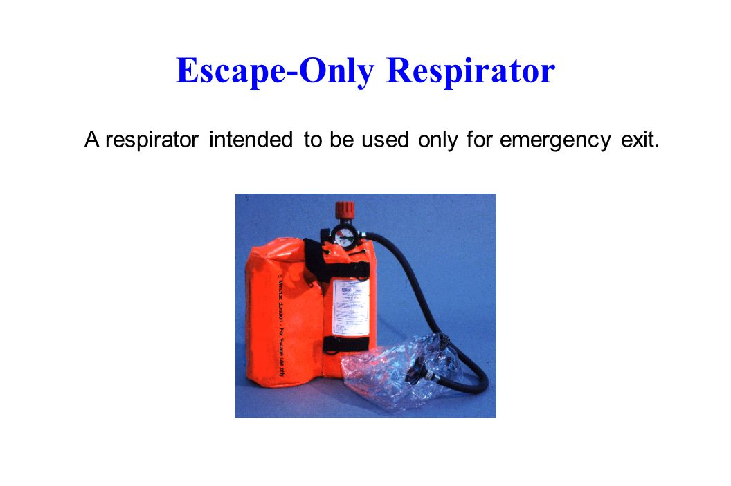 Escape-Only Respirator