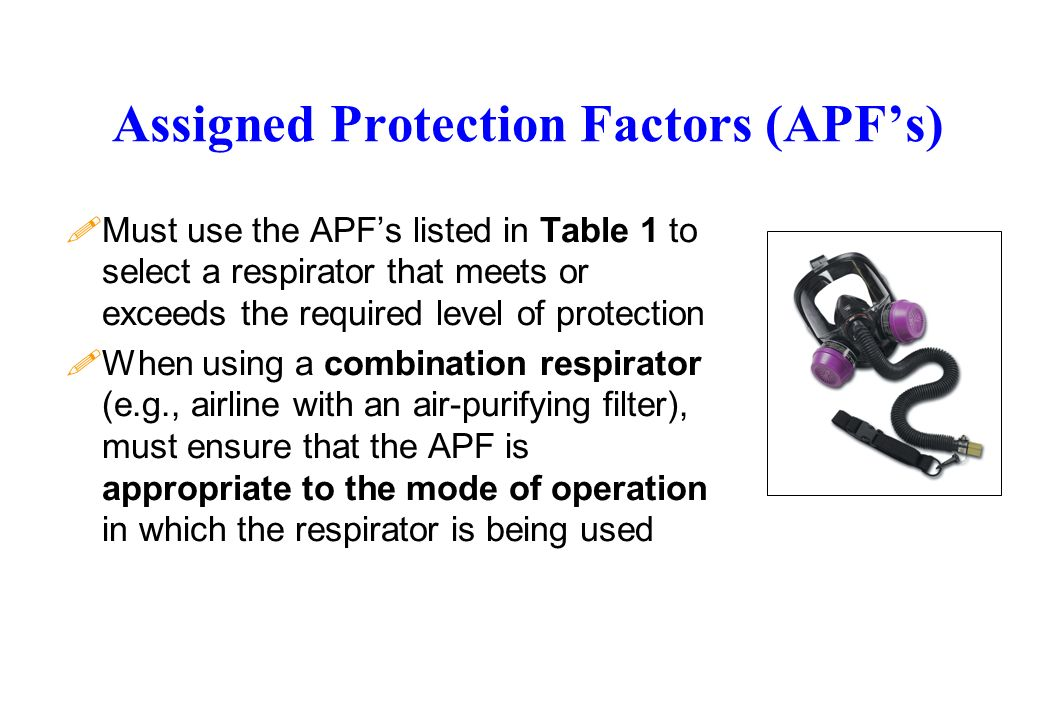 Assigned Protection Factors (APF's)