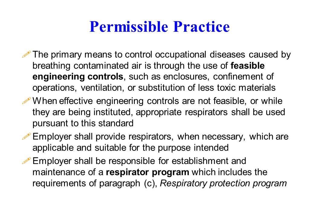Permissible Practice