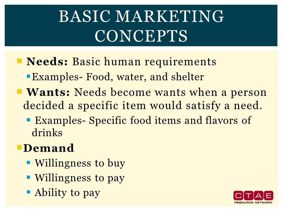 3 Basic Marketing Concept Ideas