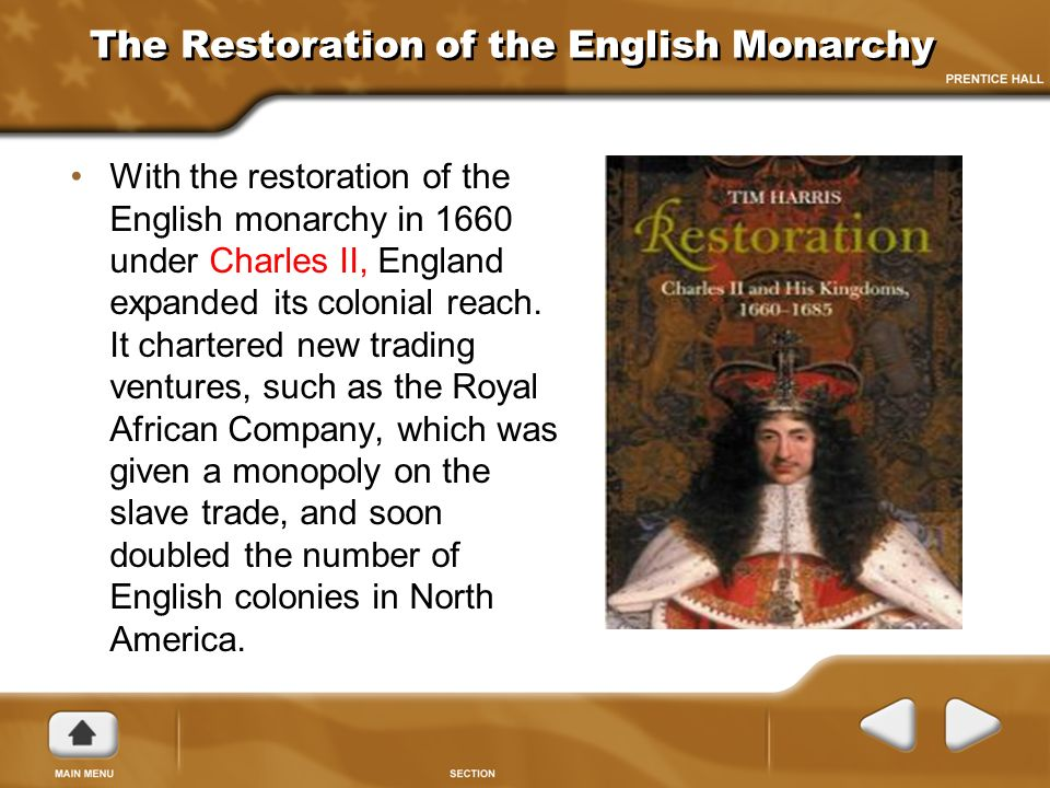 the restoration of the english monarchy English monarchs this site is designed to bring to life, as vividly as possible, the history of the kings and queens of england from egbert, first king of the english, who reigned 802-839 ad, through over a thousand years of the rich and varied tapestry of england's history to the throne's present occupant, elizabeth ii.