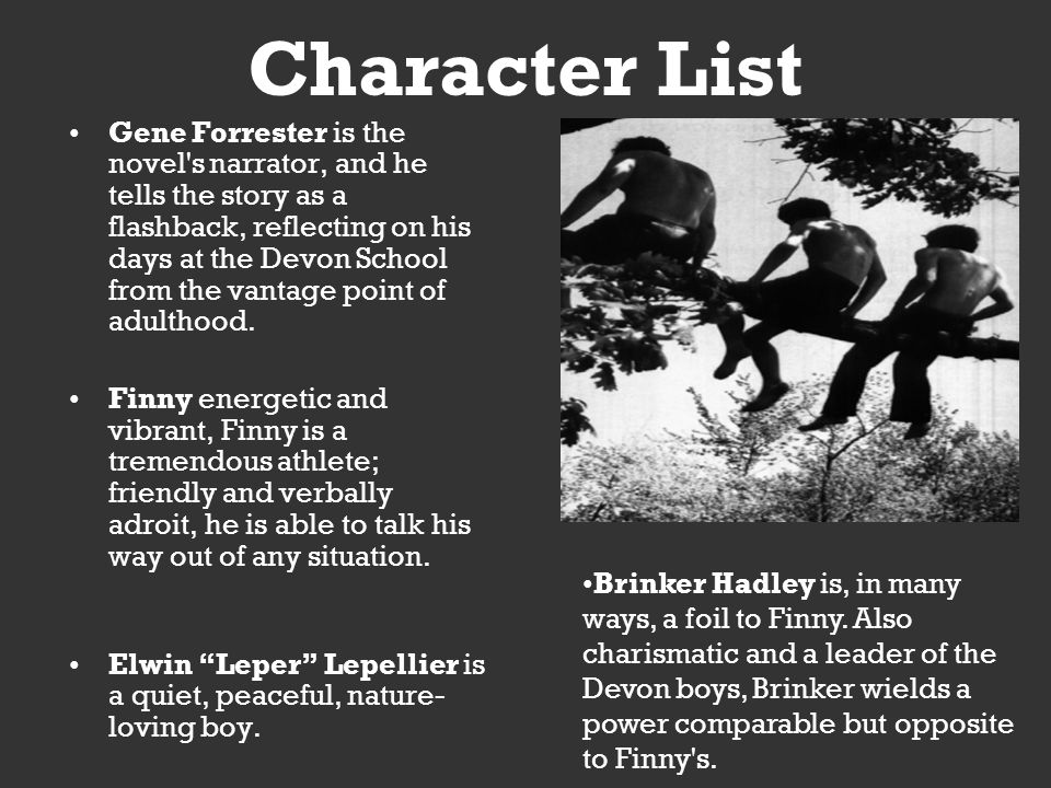 An Overview Of The Character Brinker Hadley In The Novel A Separate