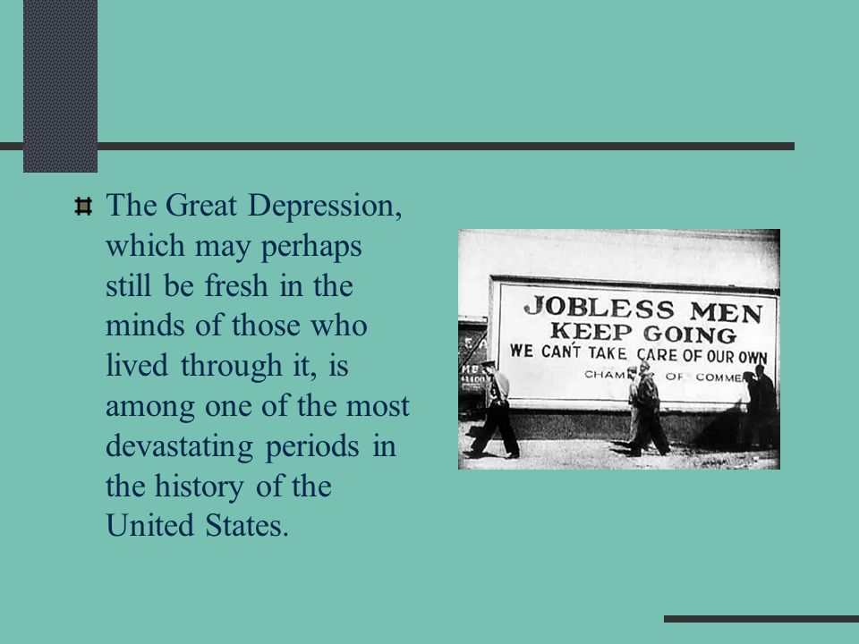 the great depression in the united states These fundamentalists lost a great deal of credibility the great depression in the united states had a widespread ripple effect throughout the world.