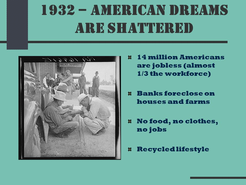 the shattered dreams of americans Shattered dreams and reasonable hope: essential links tedbowman71@gmailcom overview of session  •the american dream of social security .
