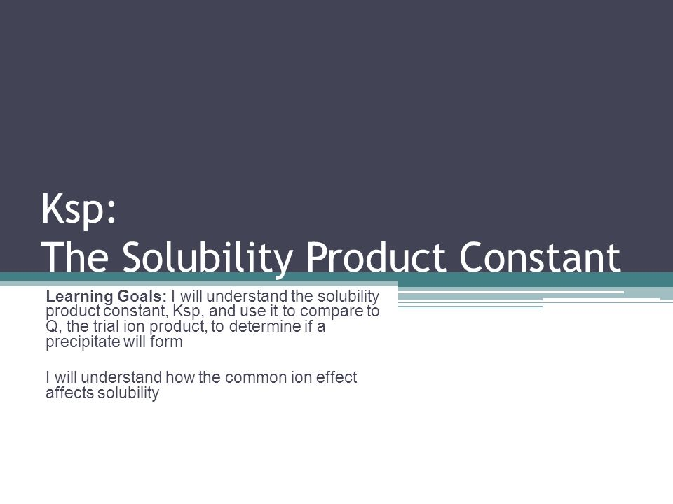 solubility product of calcium hydroxide and the common ion effect