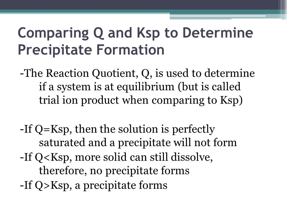 Ksp: The Solubility Product Constant - ppt video online download