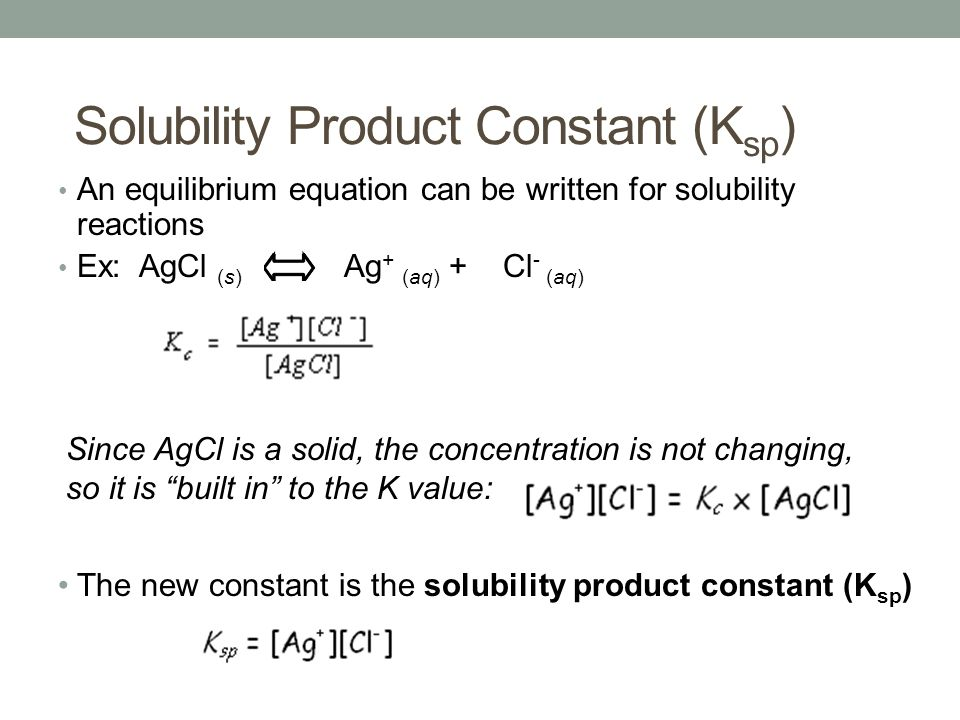 solubility product constant handout