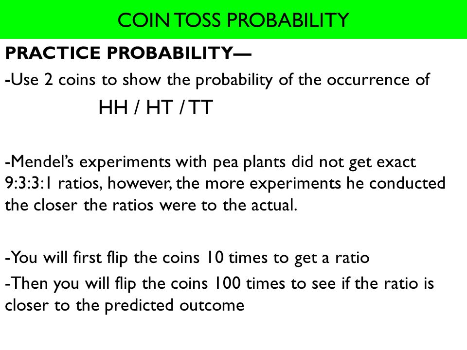Coin tossed 10 times probability : Bitcoin and ripple news