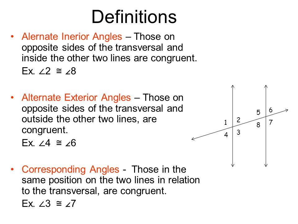 Line And Angle Relationships Ppt Video Online Download