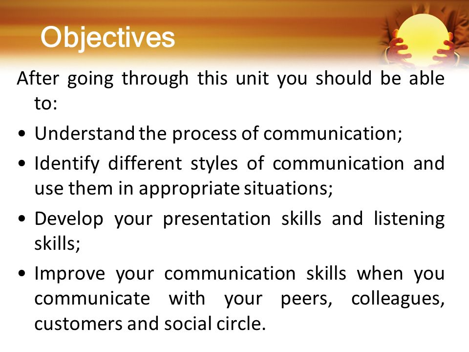 objectives after going through this unit you should be able to - How Did You Improve Your Skills What Have You Done To Develop Your Skills