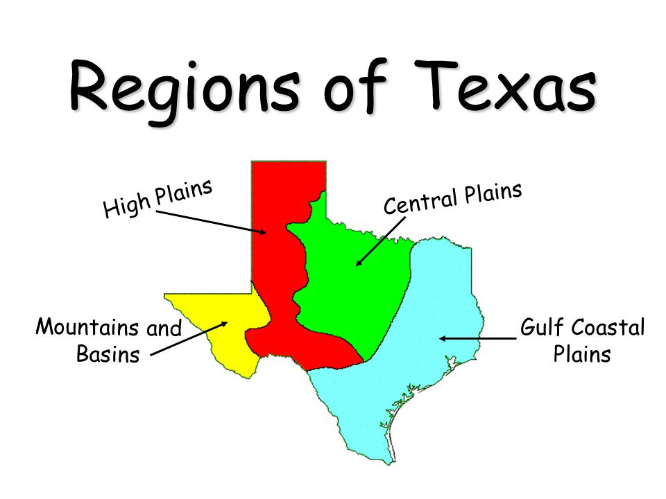 There are four physical regions of Texas that you will need to ...