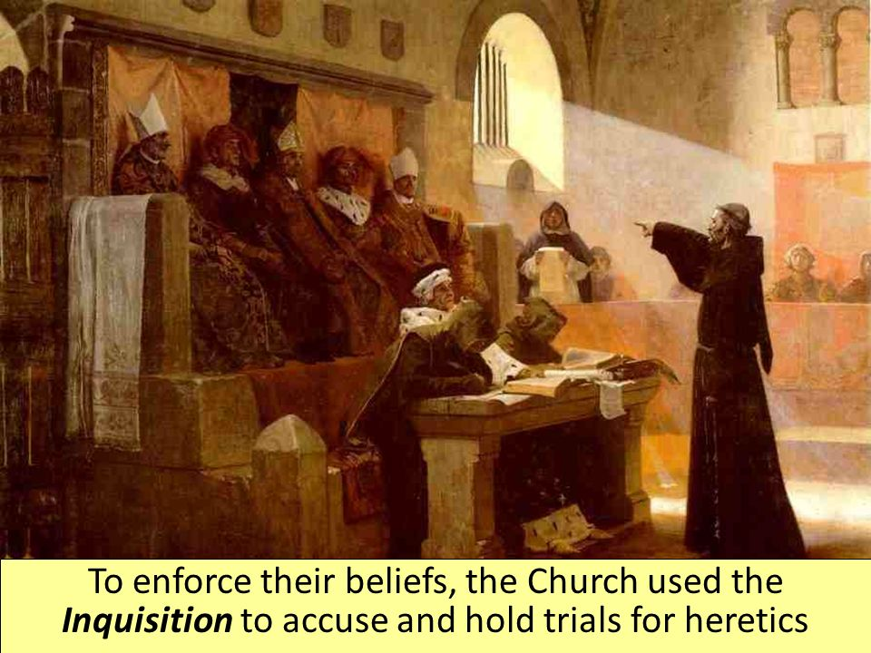 the inquisition and the catholic church Many people used to fear the inquisition in the middle ages heresy in regards to the catholic church why the church felt that the inquisition was.