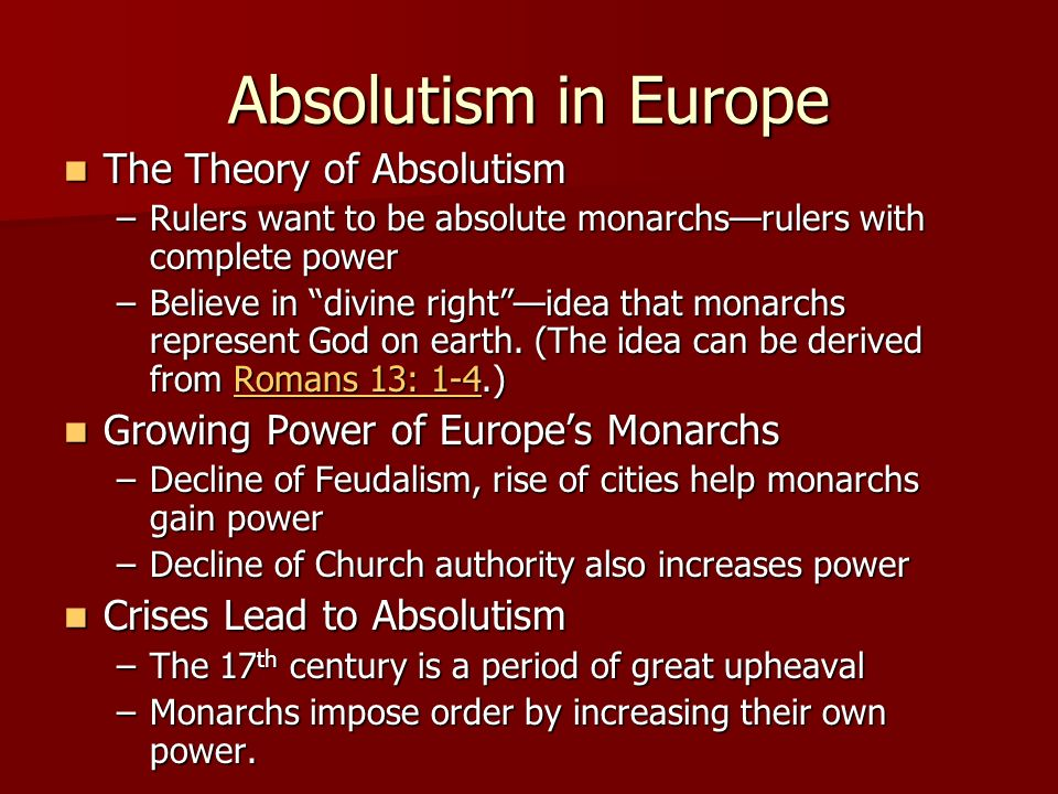 staging absolutism