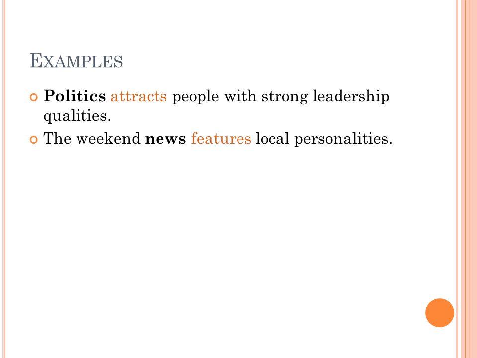 examples of leadership qualities