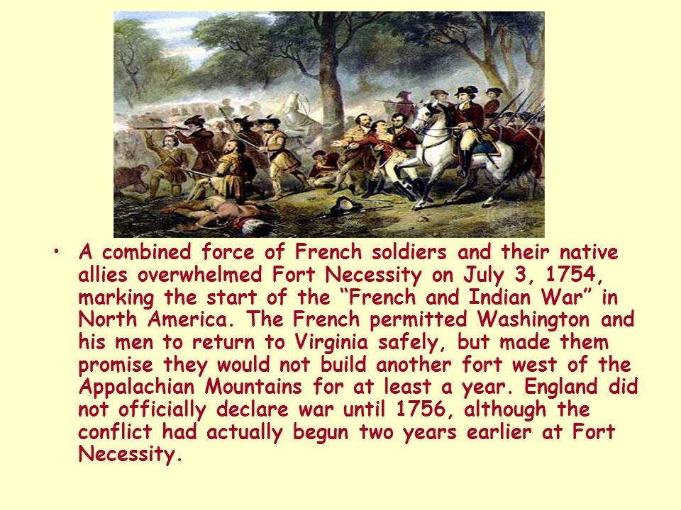 the french and indian war start Before the american french & indian war - the french & the british at war   toss in when peace came in 1763, britain started imposed large.