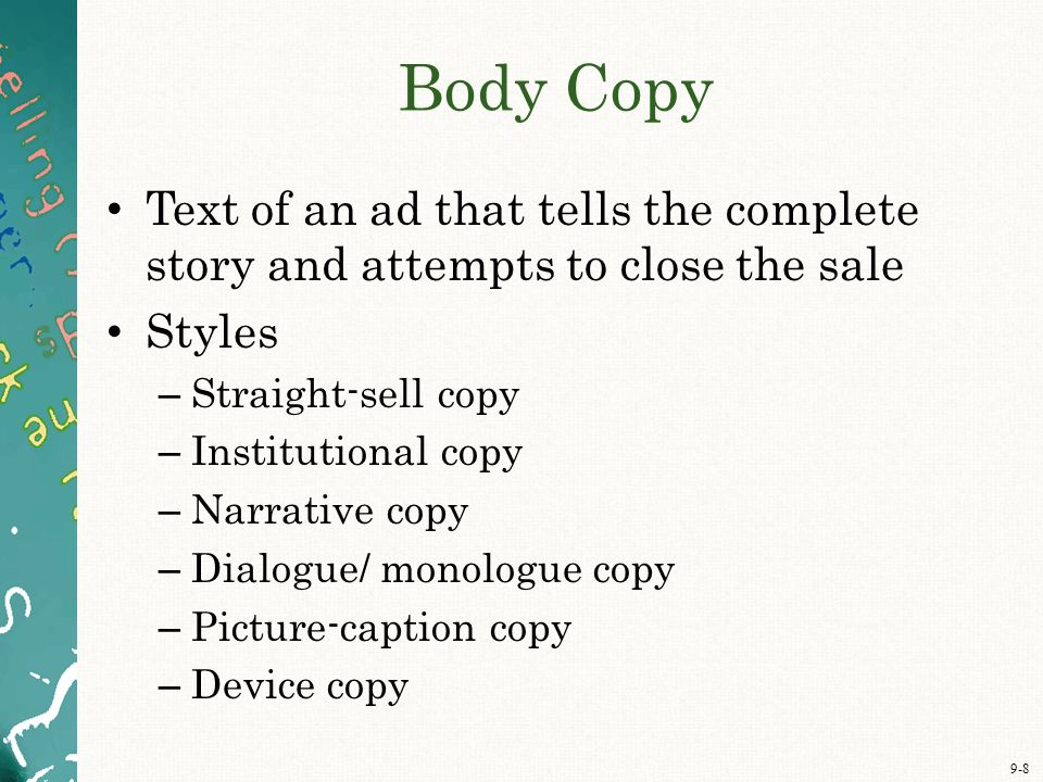 Straight Line Intro The Art Of Closing : Chapter nine creative execution art and copy ppt video