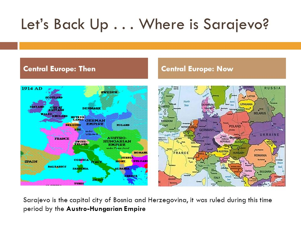 The World At War Chapter A World Crisis Ppt Download - Where is sarajevo