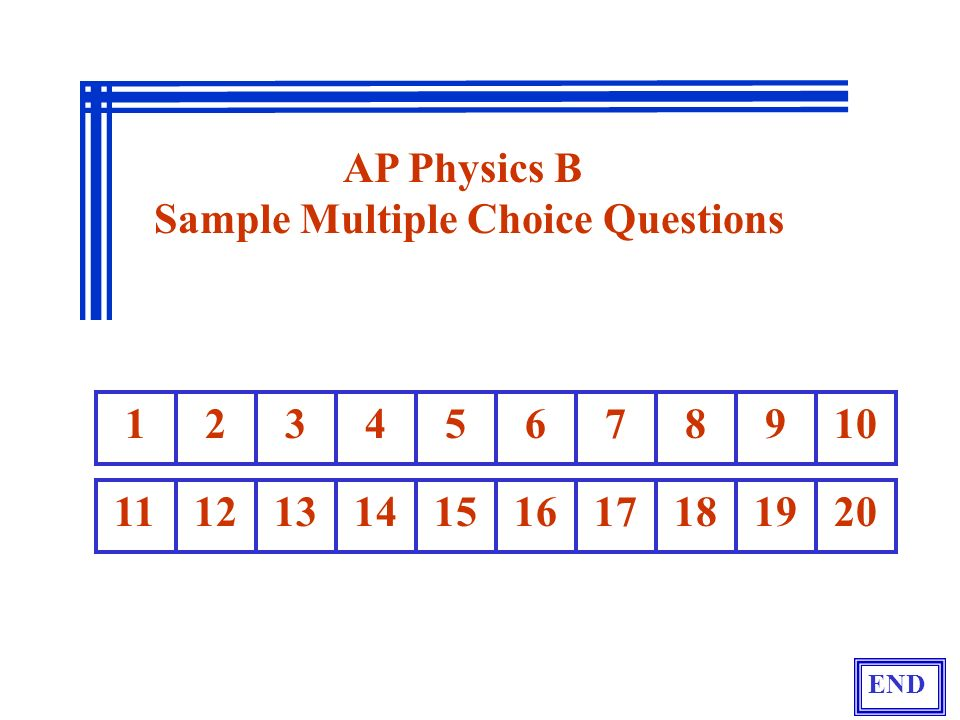 Sample Multiple Choice Questions