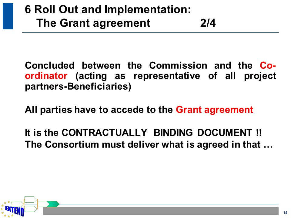Project lifecycle ppt download 6 roll out and implementation the grant agreement 24 platinumwayz