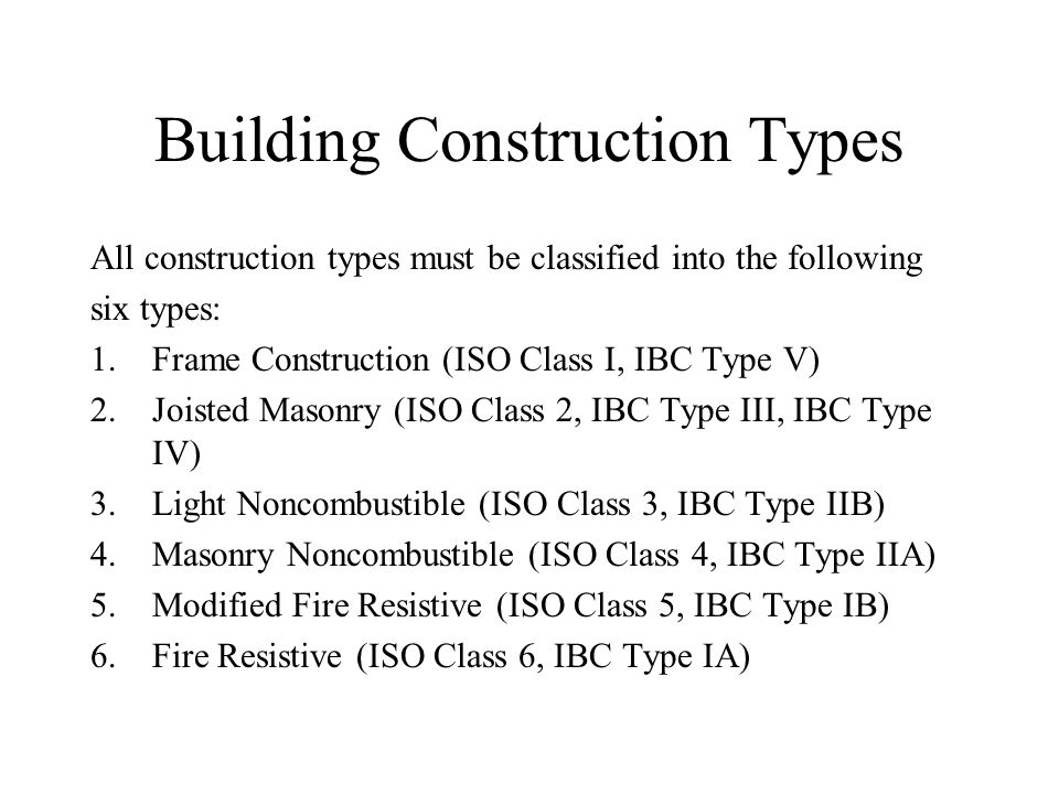 5 Types Of Building Construction : Construction type of buildings ppt video online download