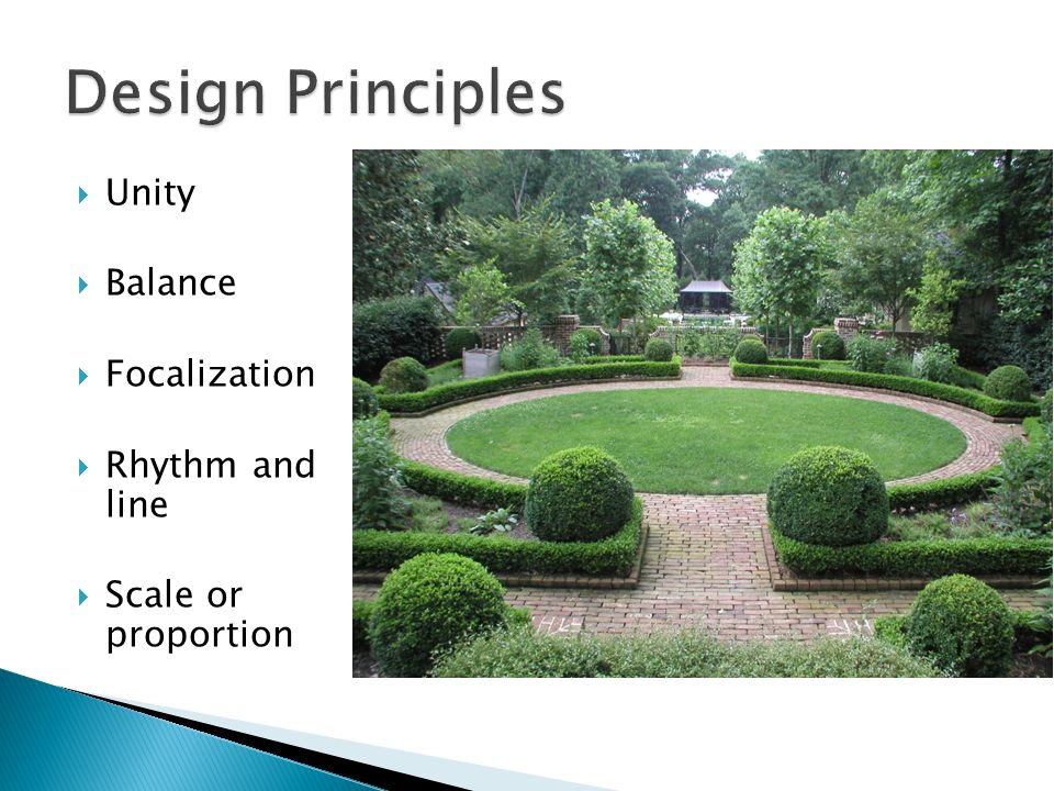 Landscape design principles rhythm home design ideas for Garden design principles