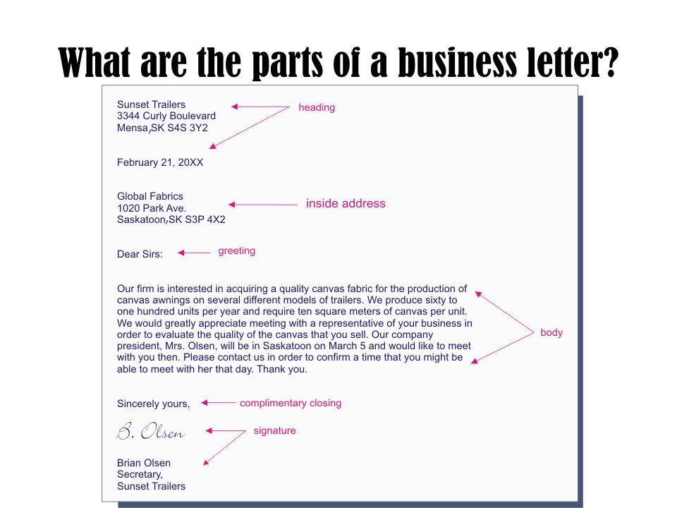Letters Business