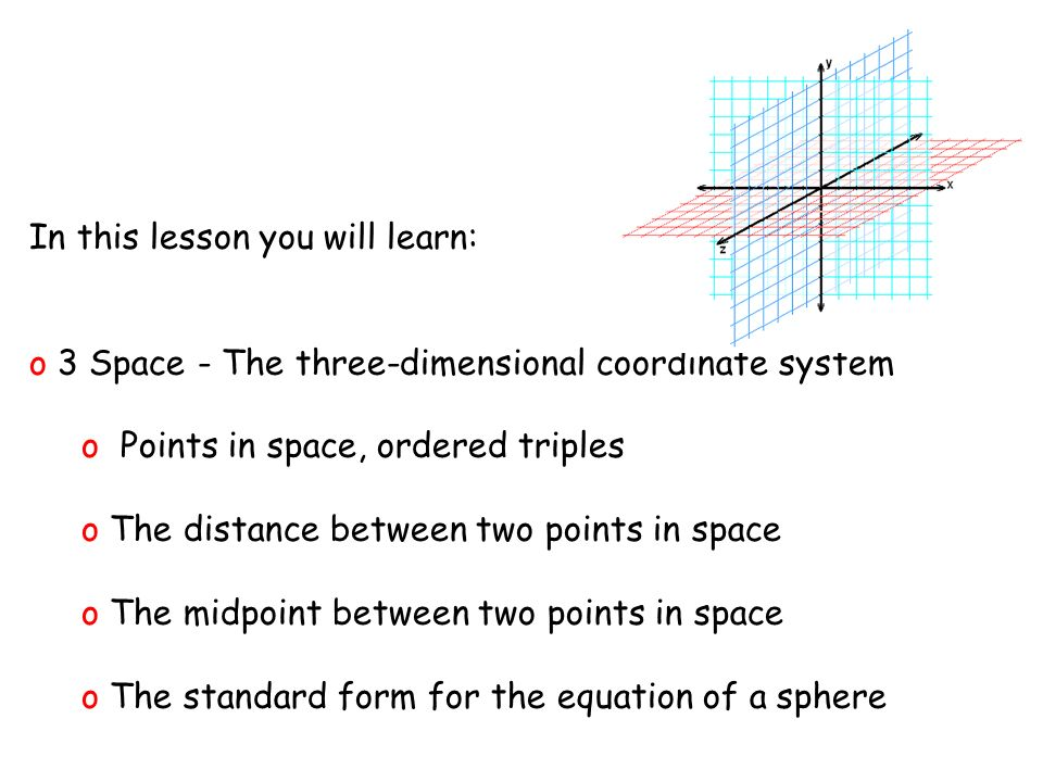 Vectors and the Geometry of Space ppt video online download