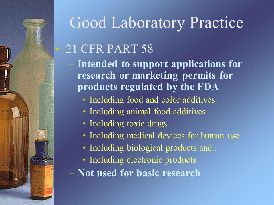 Good Laboratory Practices Food Qa