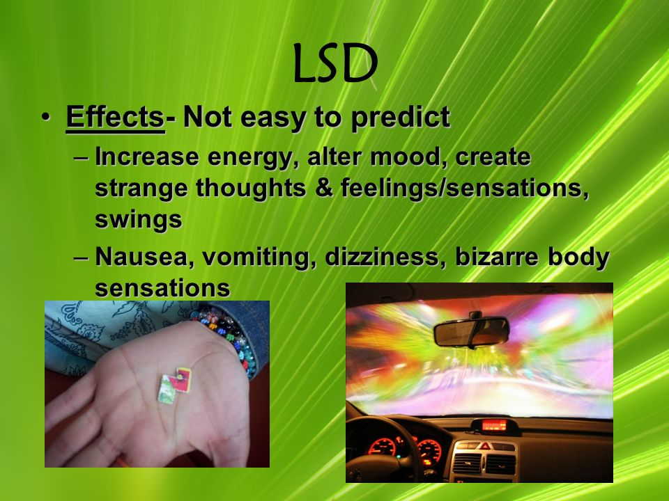 An analysis of the psychological effects of lsd on a person