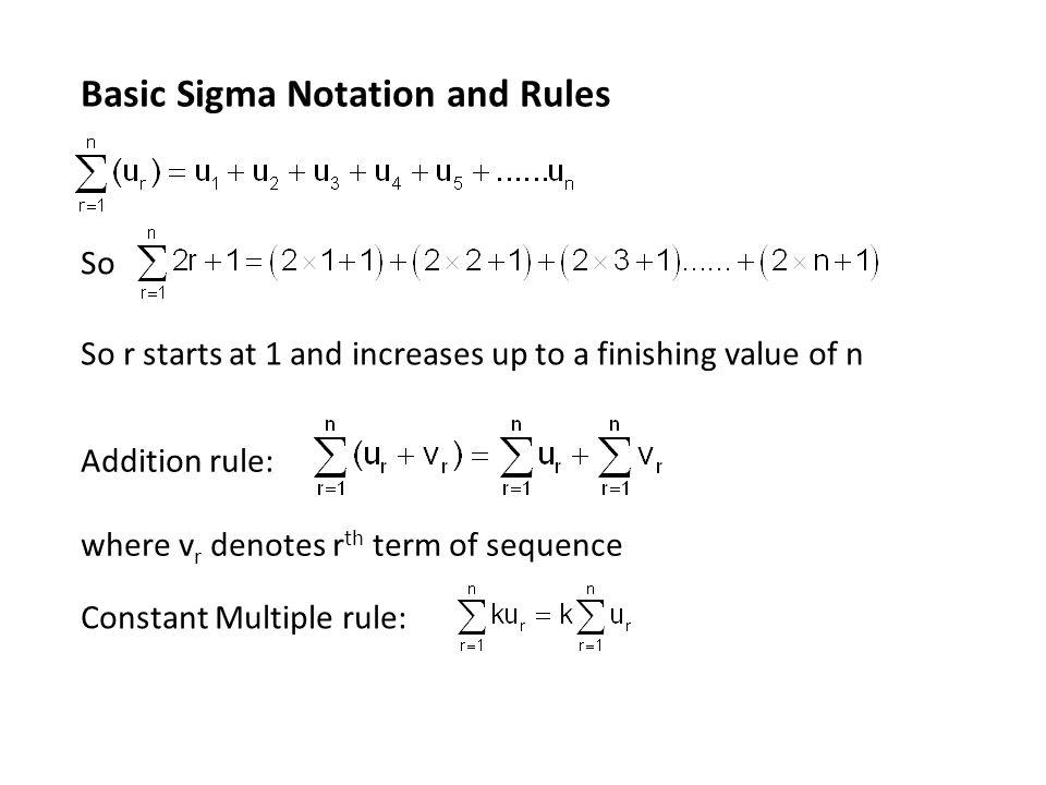 Sigma Notation Worksheet Checks Worksheet
