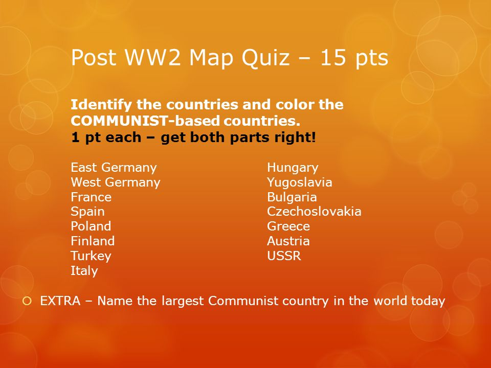 Cold War Quiz What Was The Warsaw Pact What Foreign - Poland map quiz