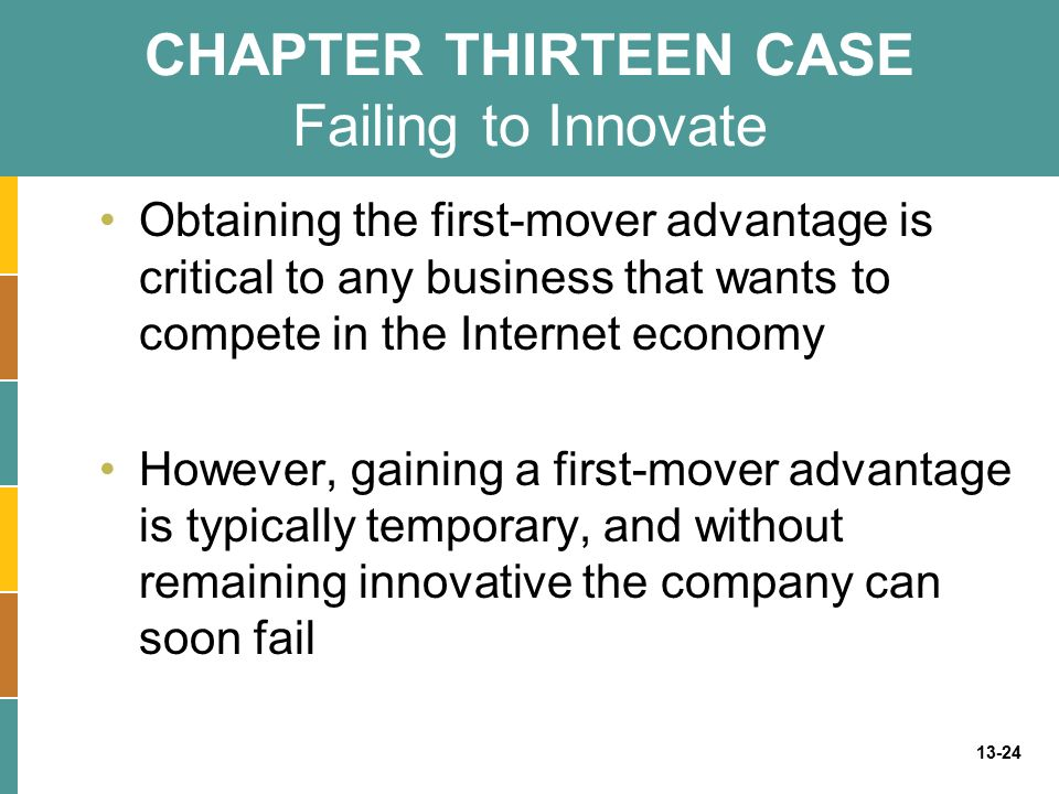CHAPTER THIRTEEN CASE Failing to Innovate