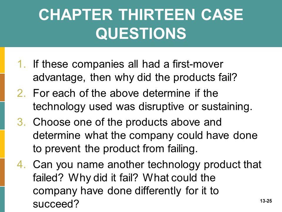 CHAPTER THIRTEEN CASE QUESTIONS
