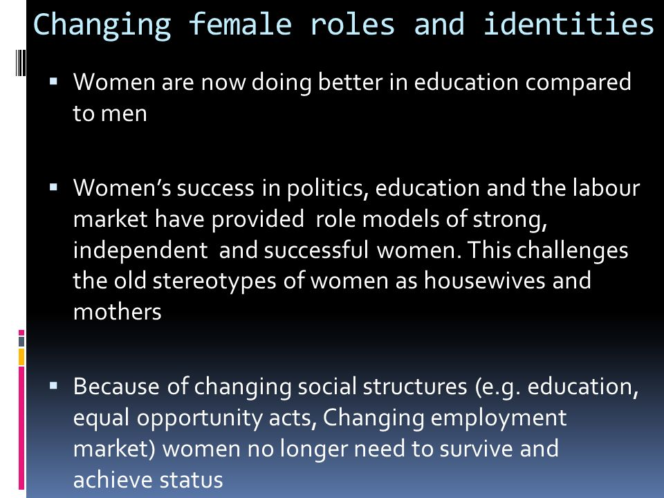 changing roles of men and women in the philippines