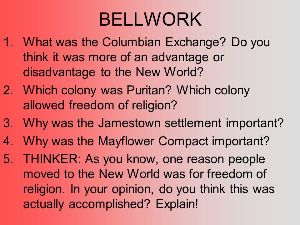 advantages of columbian exchange