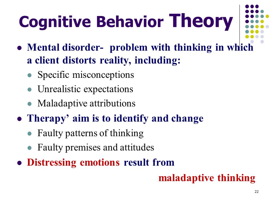evaluation of maladaptive behavior Behaviors to replace maladaptive behavior in addition, it was noted that  behavioral interventions should be efficient and minimally intrusive in terms of  time,.