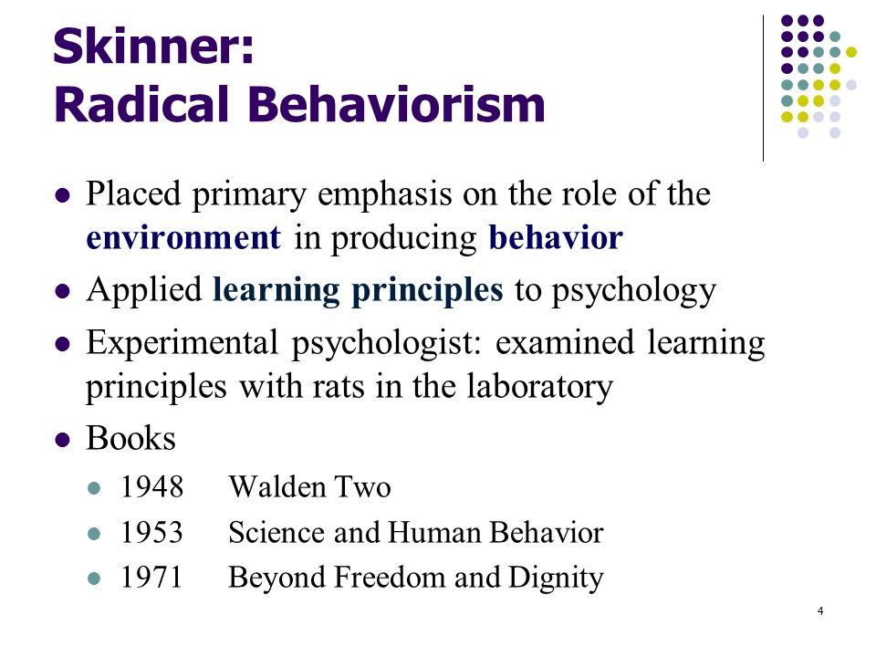 Environment and the psychology of behavior