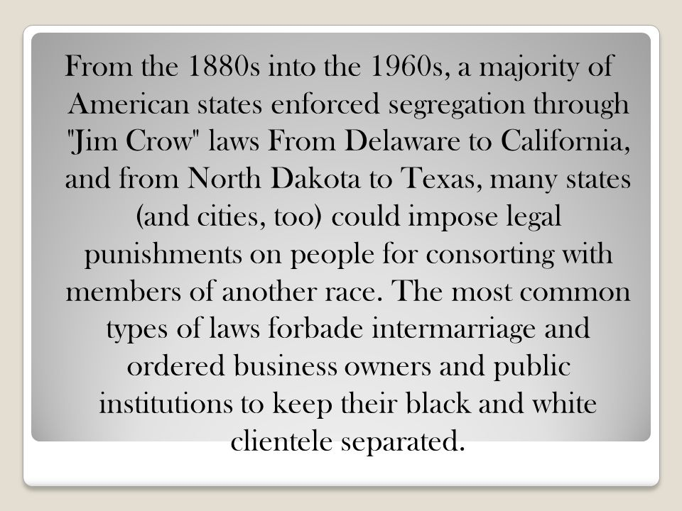 Jim Crow Laws. - ppt video online download