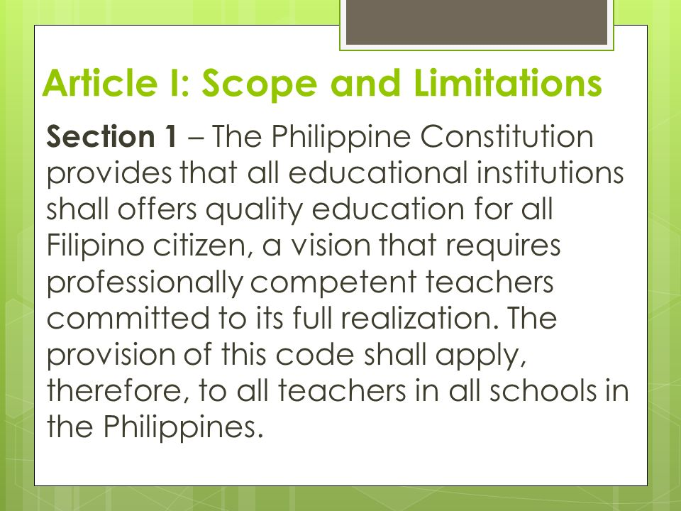 Code Of Ethics For Professional Teachers 2 Resolution