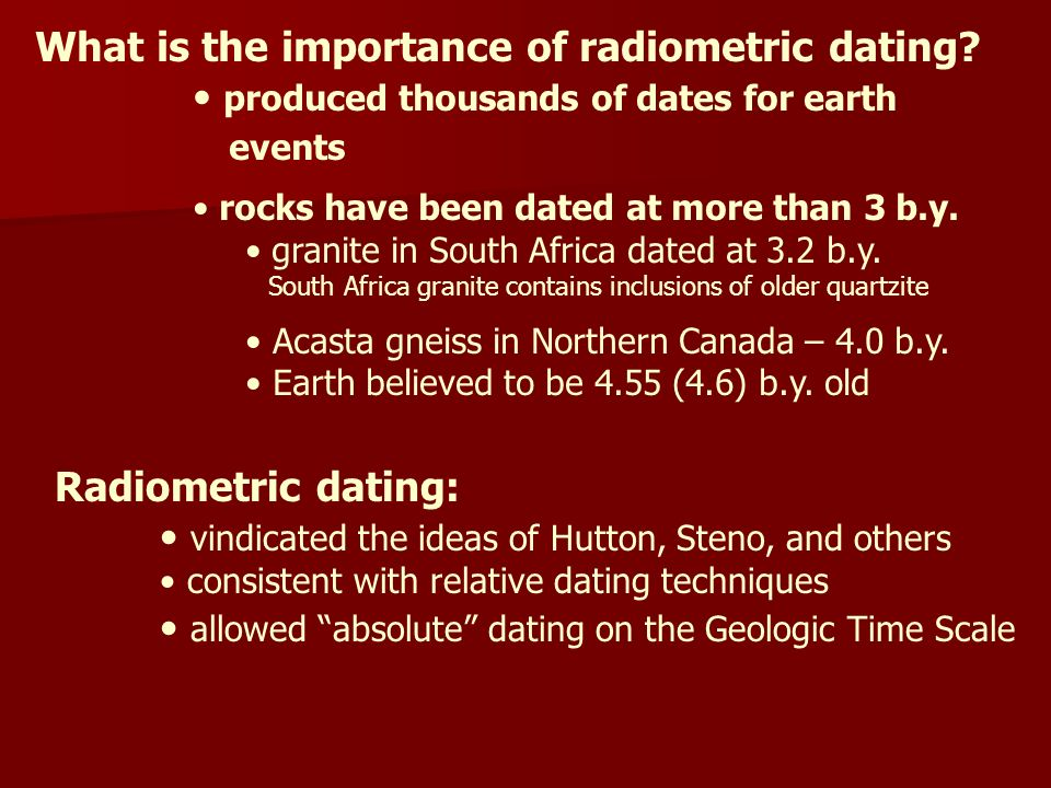 What Is The Importance Of Radiometric Dating