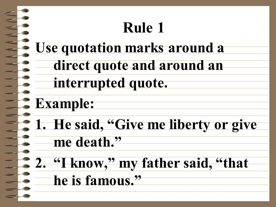 Quotation Marks  Ppt Video Online Download