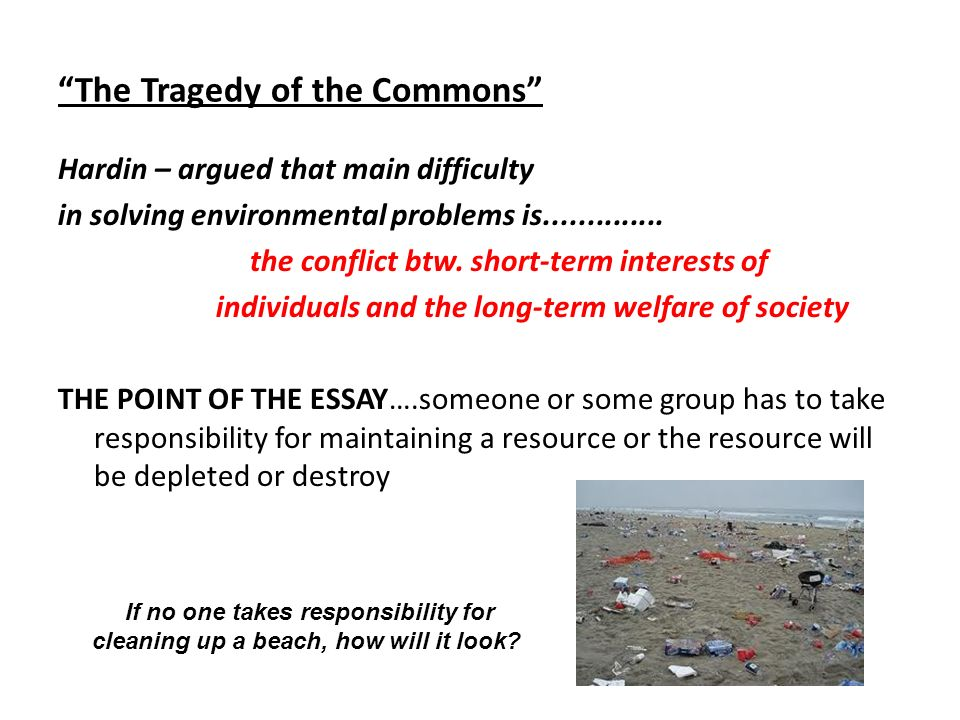 chapter introduction to environmental science ppt  the tragedy of the commons