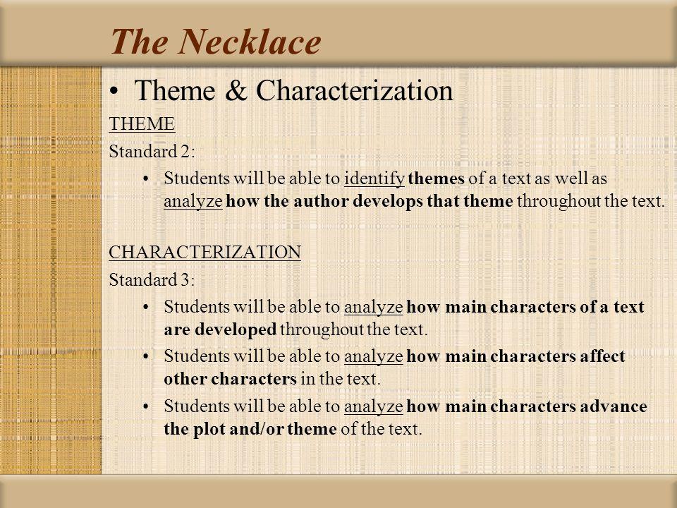 The Necklace Essay Topics