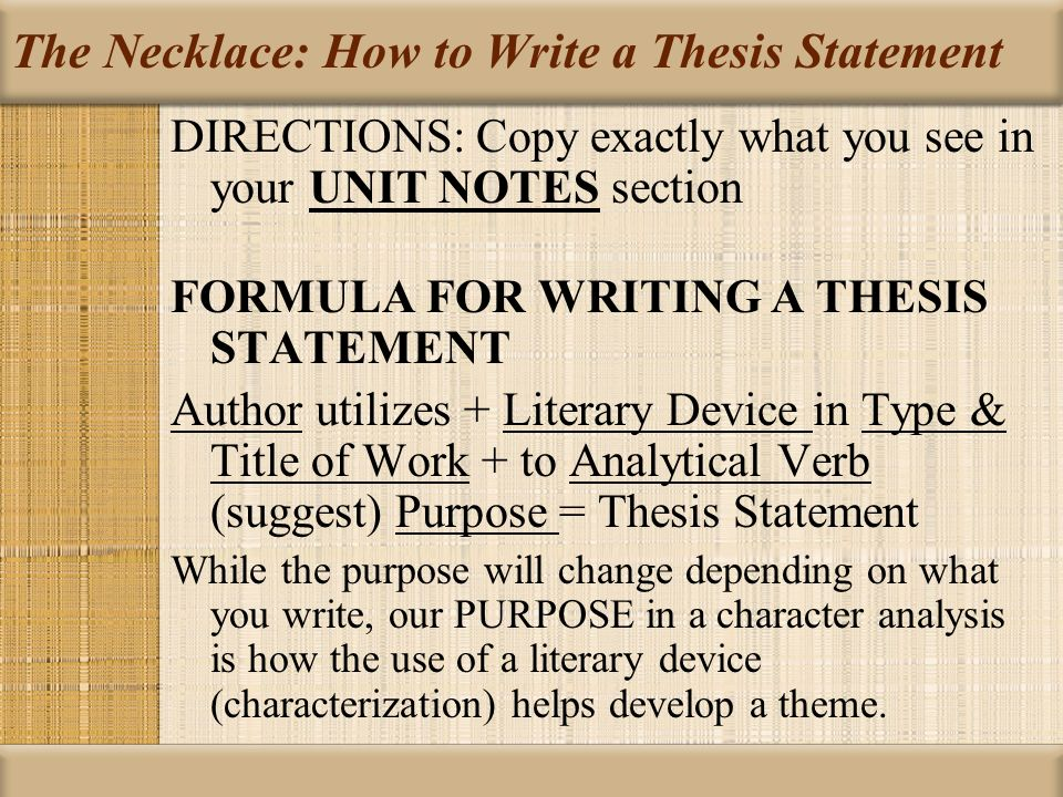 how to write an analytical thesis How to write an a+ analytical essay it will be your thesis what to write about if you are not given a specific topic to write about.