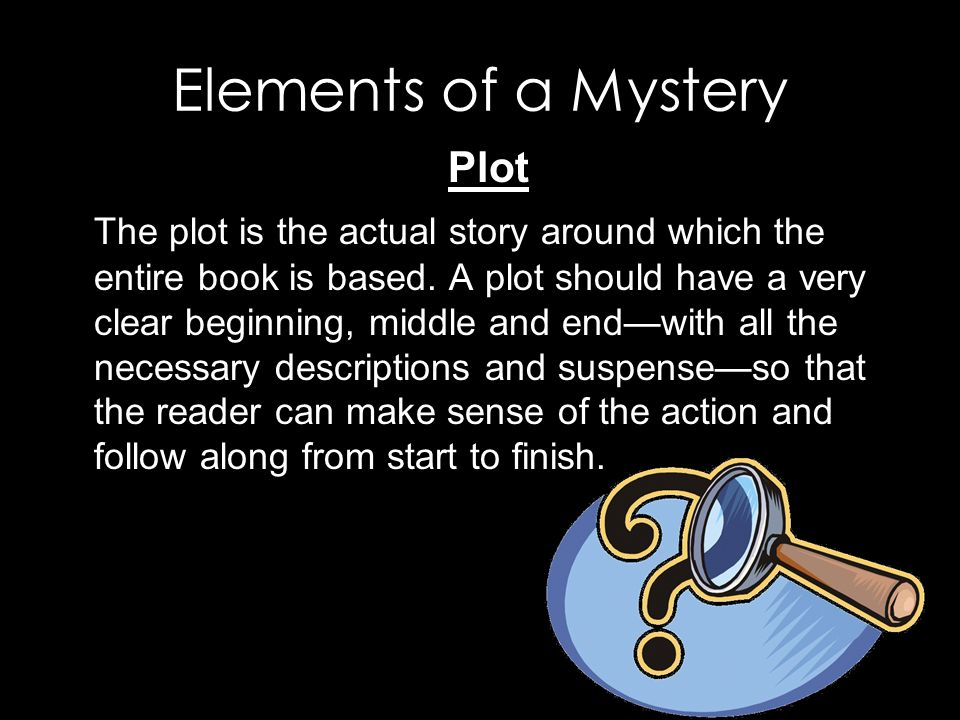 how to write a mystery plot