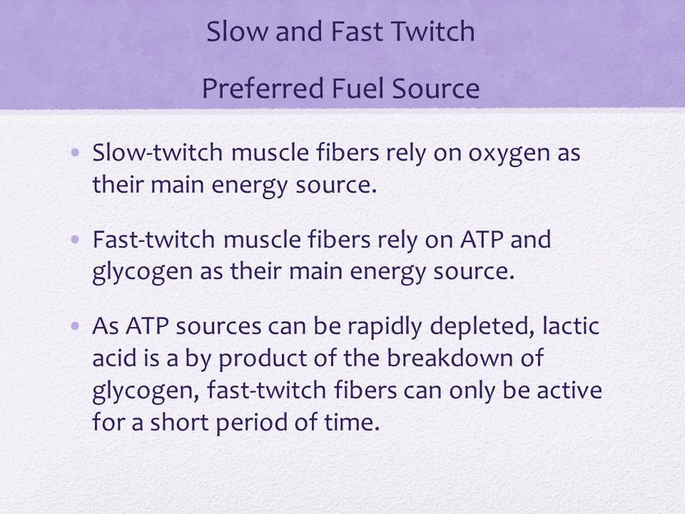 how to get fast twitch muscle fibers